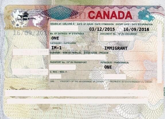 виза иммигранта